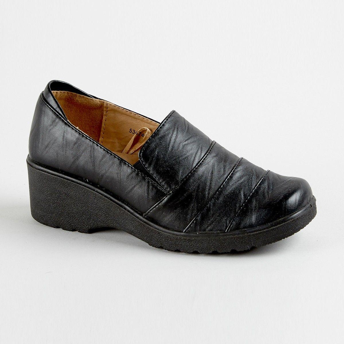 Cushion Walk Joan Wedge Shoe Black