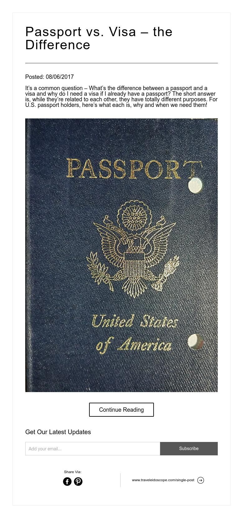 what is the purpose of a passport and visa