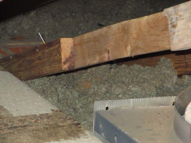 Engineered Roof Truss Repair   Homeowner Repair