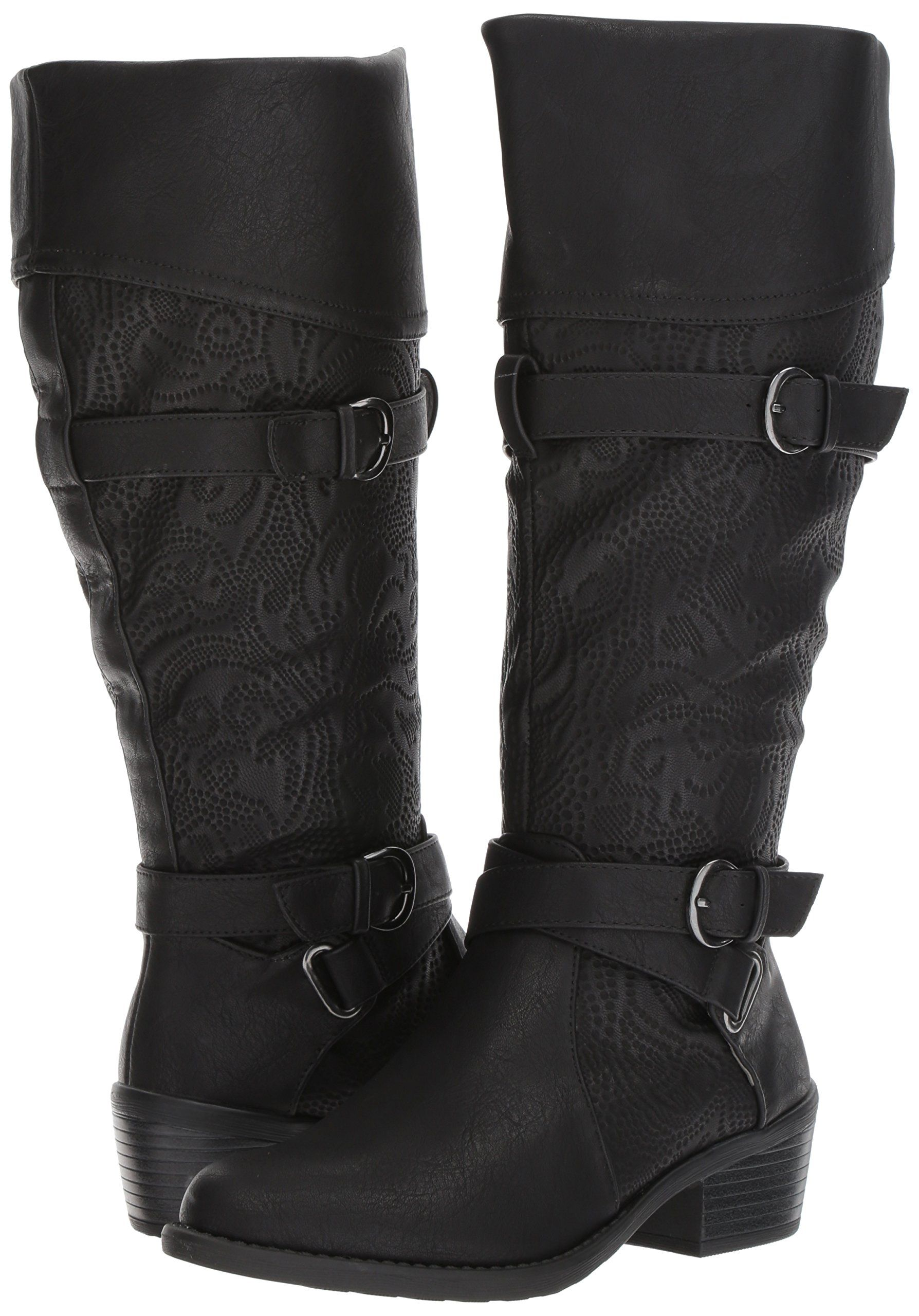 Easy Street Damenschuhe Kelsa Plus Harness Boot schwarz Embossed 9 9 Embossed M US ... 1b3f2b