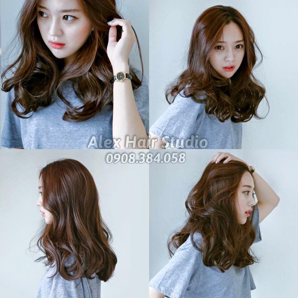 caramel  Gaya rambut panjang, Gaya rambut, Gaya rambut korea