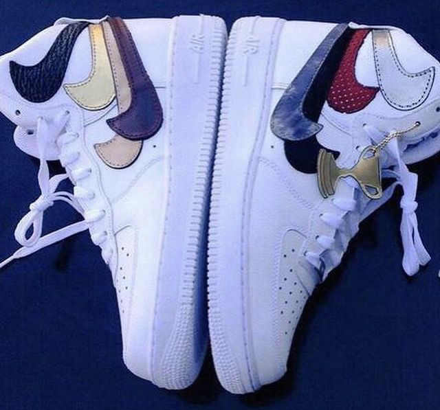 nike air force with 2 checks