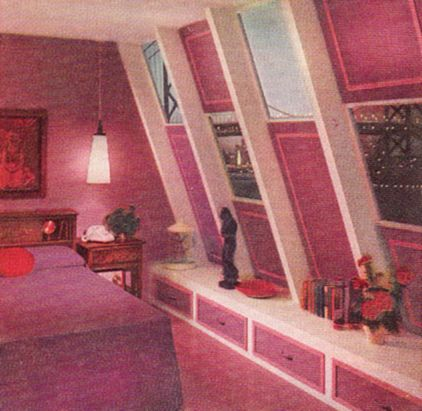 Sherwin \'61   Pink bedrooms, Bedrooms and Mid century