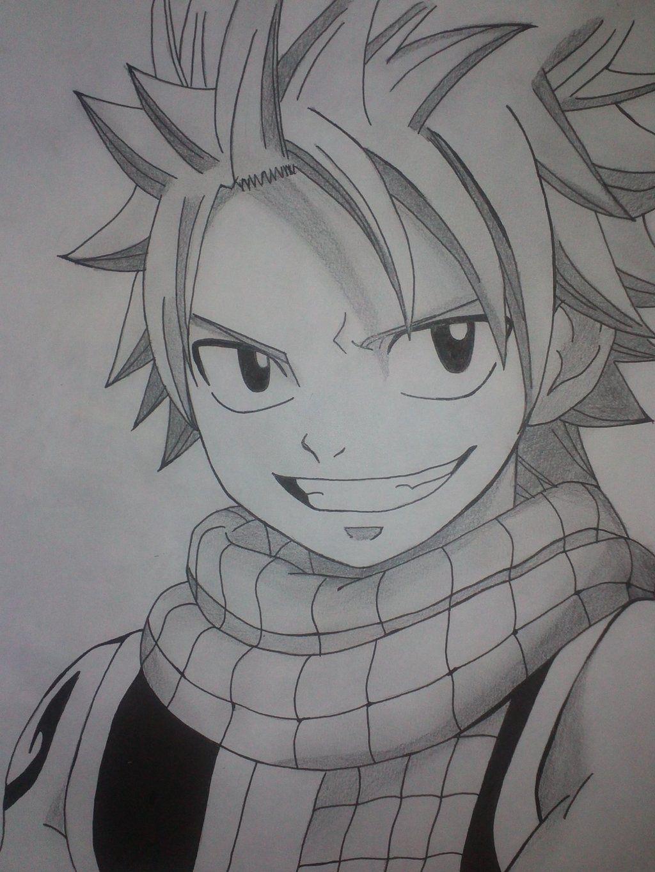 Anime drawings natsu ruang belajar siswa kelas 10