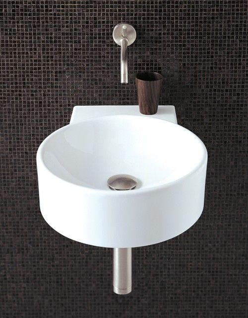 Round Wall Hung Basin With No Tap Hole. 9 x 9mm. additional ...