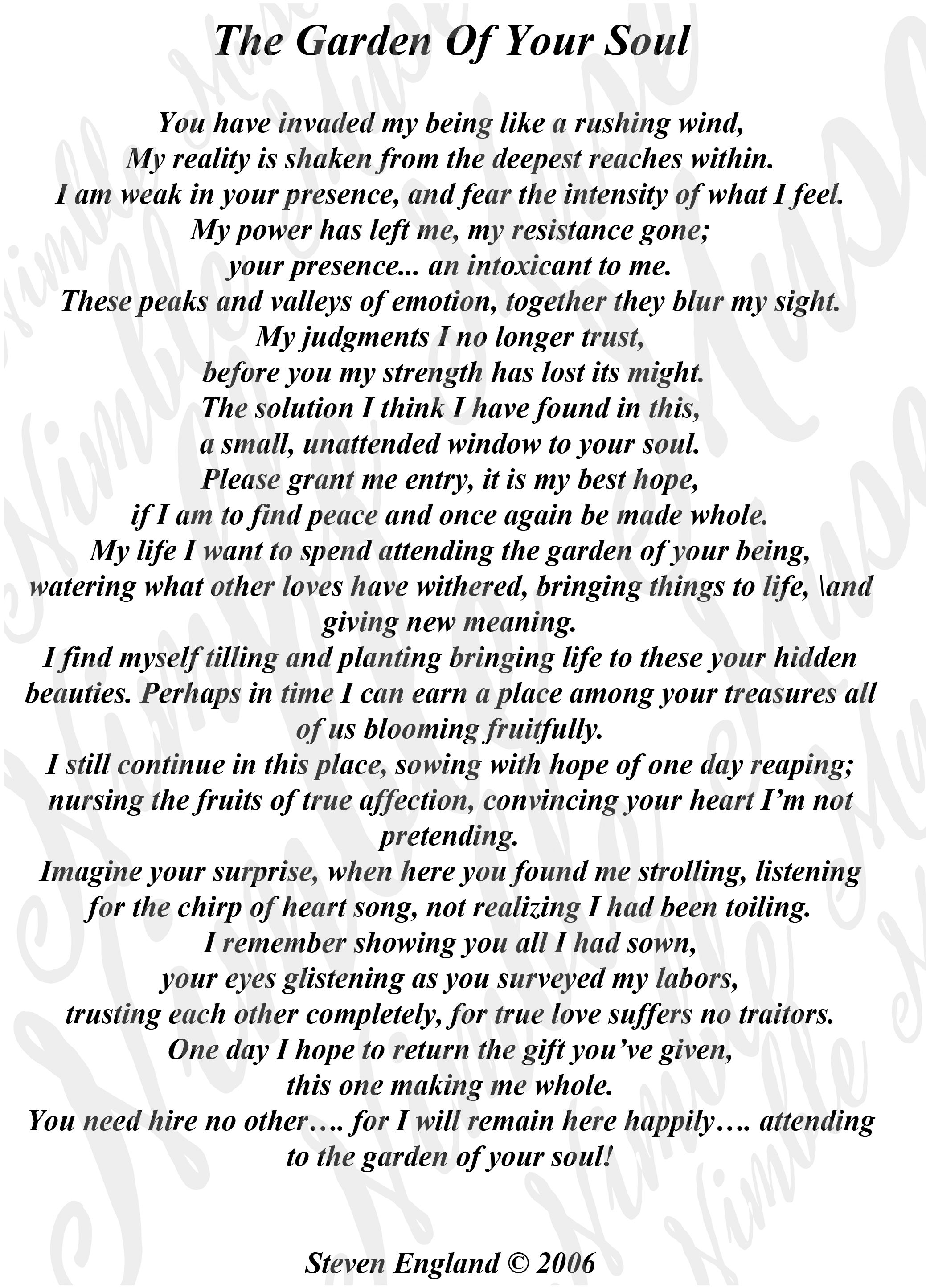 Original Poems Personal And Commercial Use Christian Wedding Personalized DIY Gifts Greeting Cards Poetry Print