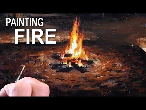 How To Paint A Campfire | Acrylic Painting Techniques - YouTube