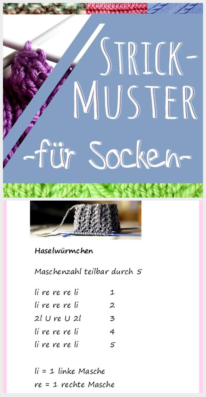Strickmuster für Socken: 10 kostenlose Muster – Welcome to Blog