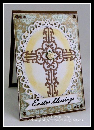 Easter Blessings  - created using #Spellbinders by Linda Lucas  Spellbinders