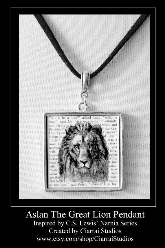 Aslan Narnia Necklace – Narnia Book Jewelry – Narnia Lion Necklace ...