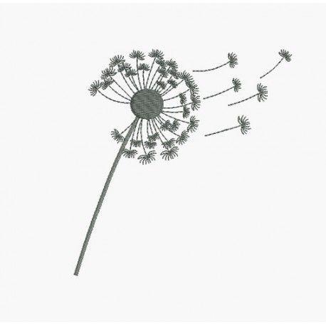 Motif de broderie fleur de pissenlit 2 iz ana - Dessin fleur pissenlit ...