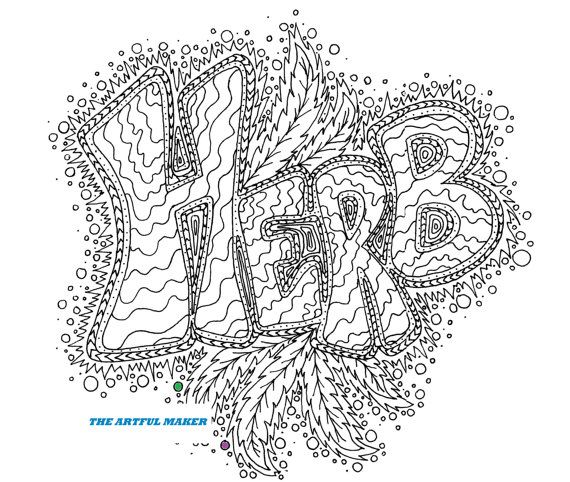 Herb Adult Coloring Page By The Artful Maker Coloring Pages