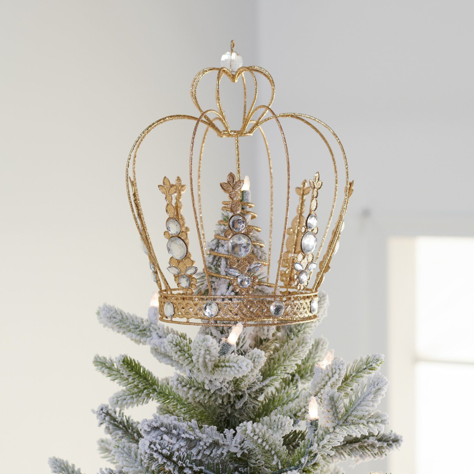 Belham Living Crown Tree Topper In 2020 Tree Toppers Holiday