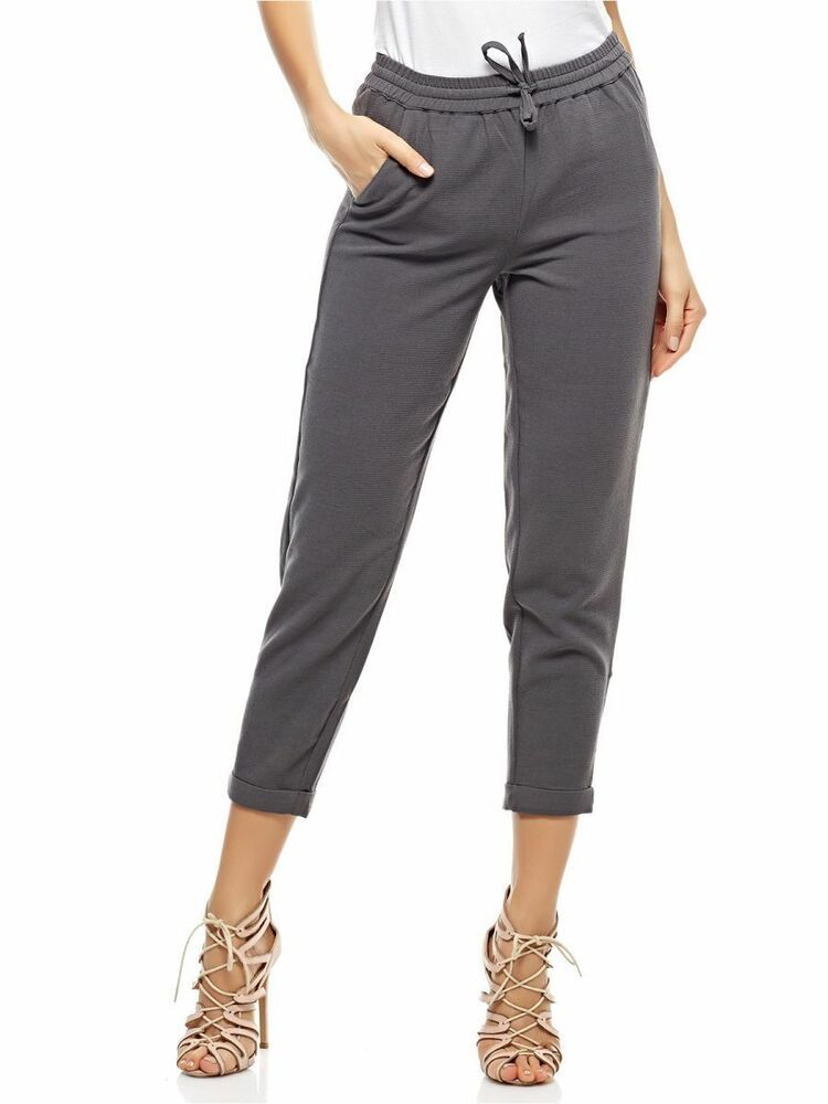 df3f478da6b Only Drawstring Trousers for Women Grey Size M uk 12 rrp 20 LS170 NN 12   fashion  clothing  shoes  accessories  womensclothing  pants (ebay link)