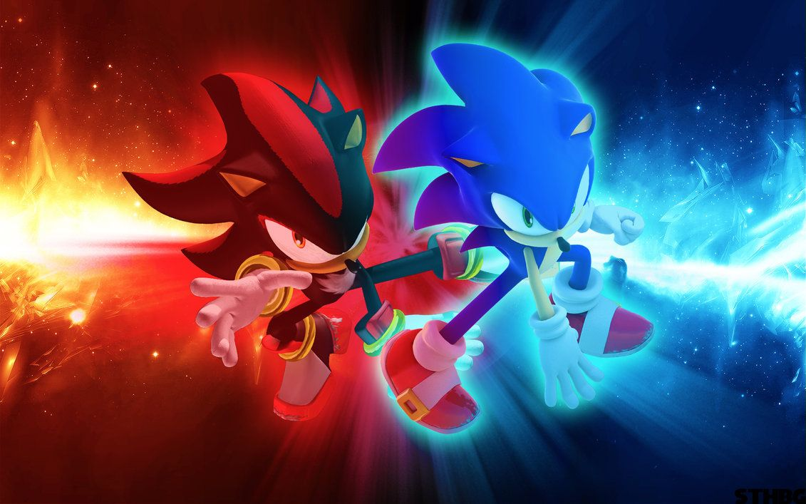 Sonic And Shadow Wallpaper By Sonicthehedgehogbg On Deviantart Sonic And Shadow Cartoon Wallpaper Sonic The Hedgehog