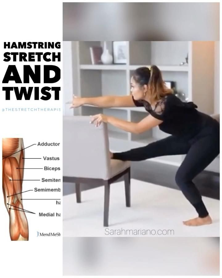 Grab A Chair And Stretch Video In 2020 Flexibility Workout Pelvis Stretching Lower Body Workout