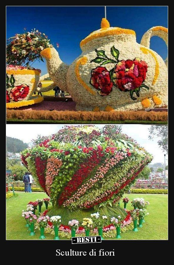 Sculture di fiori immagini sculture da giardino for Creazioni giardini
