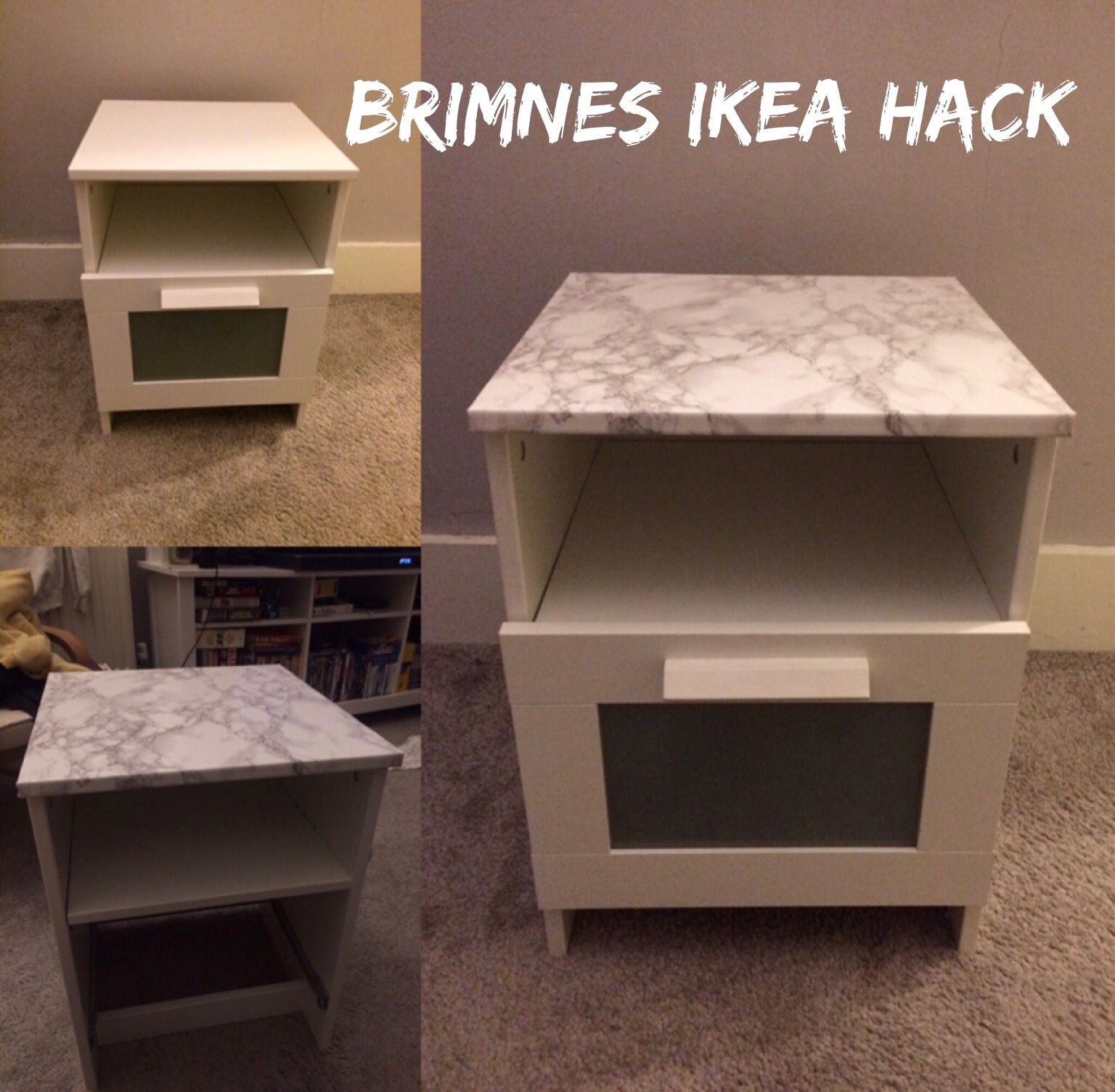 5 Brimnes ikea hack Super easy upcycle using sticky back plastic