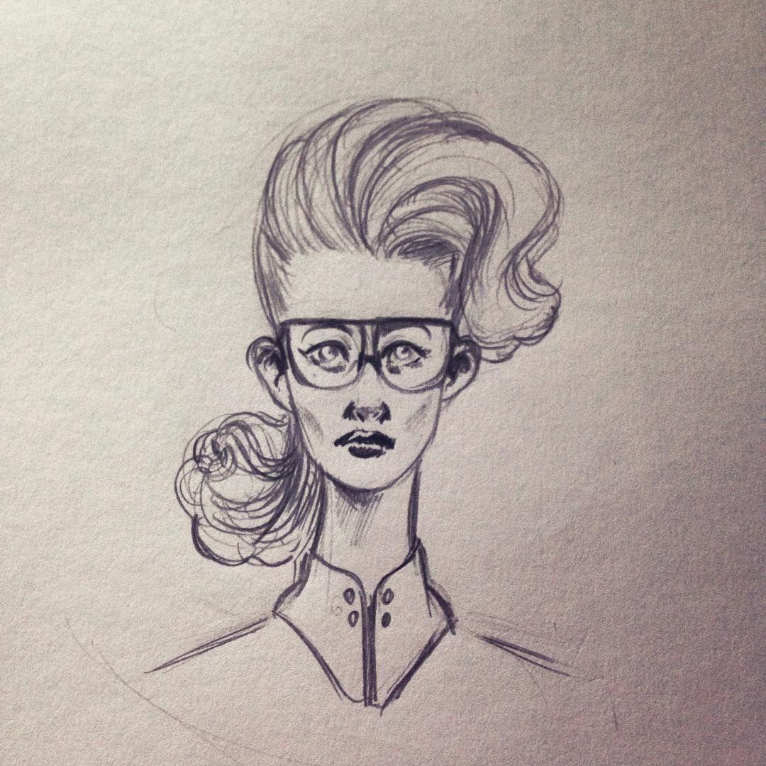 Alguém viu essa moça por aí?  #ilustração #illustration #pencil #desenho #drawing #girl #glasses #fashion