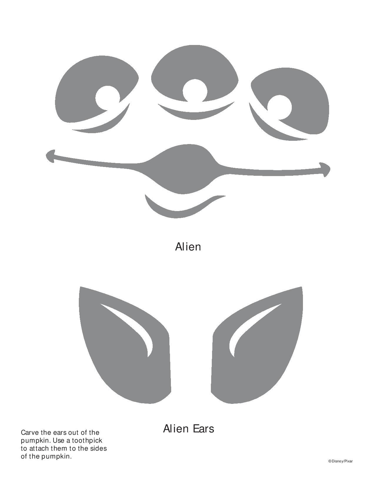 alien toy story pumpkin stencil  u2026  with images