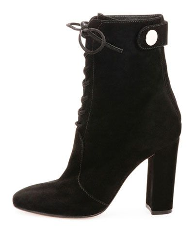 c01000a74ebdb X2TGC Gianvito Rossi Suede Lace-Up Ankle Boot, Black | Footwear ...
