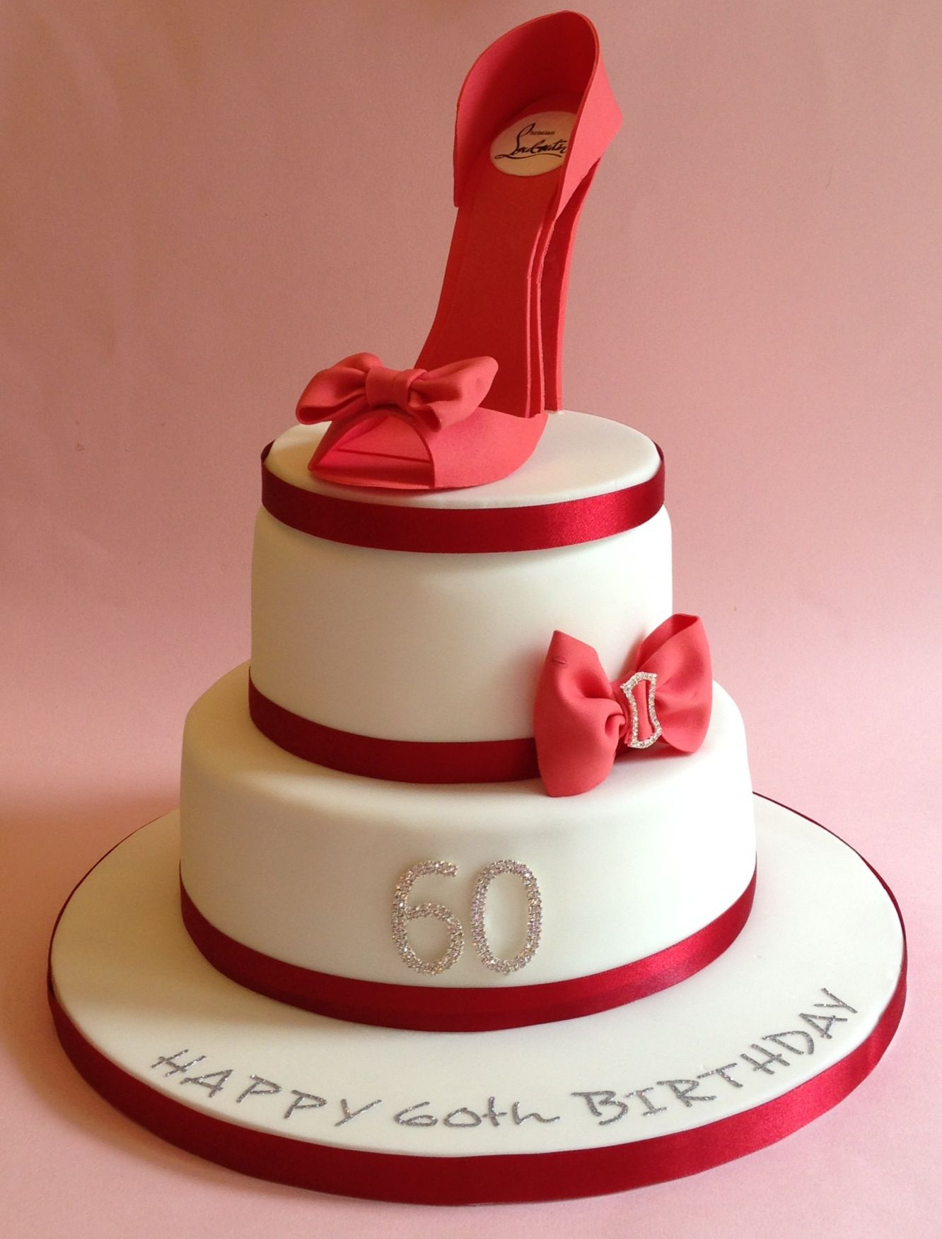 Shoe Themed 60th Birthday Cake Vintagehousebakerycouk