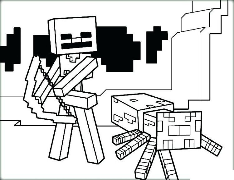 Minecraft Christmas Coloring Pages