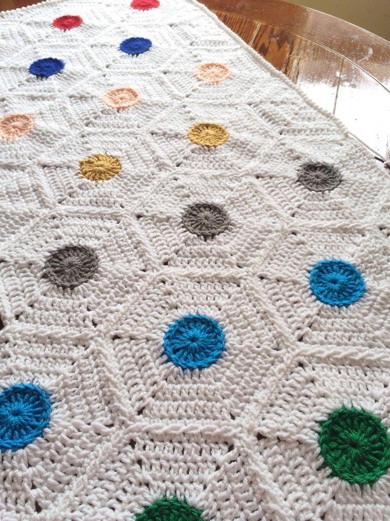 polka Dot afghan hexie pattern | Crochet - Blankets/Afghans ...