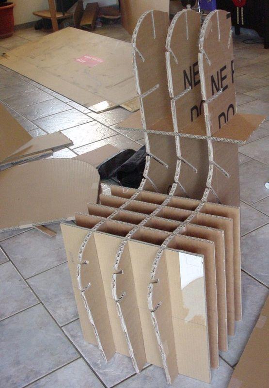 Mes Meubles En Carton Cocolife Chaise En Carton Meuble En Carton Tuto Meubles En Carton