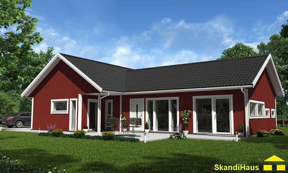 Schwedenhaus bungalow  Schwedenhaus SkandiHaus 1-geschossig 126 | Schweden Häuser ...