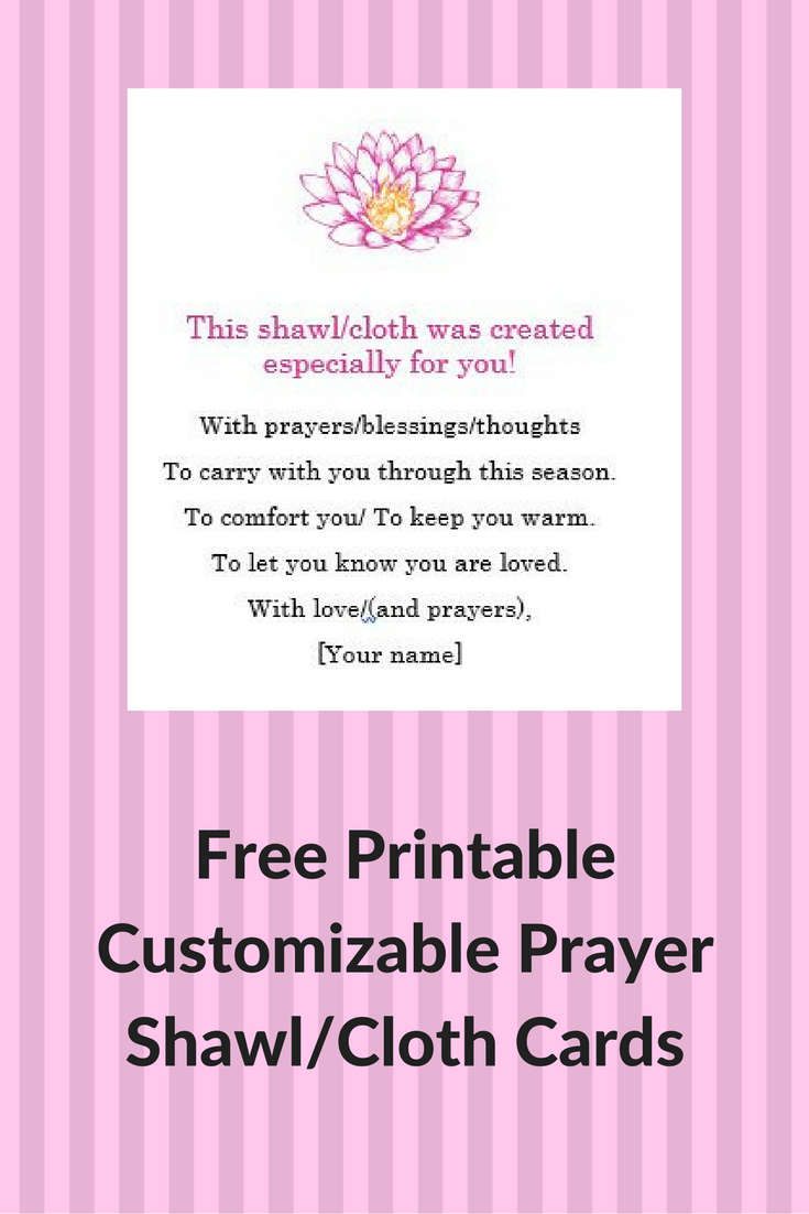 Prayer Shawl Cards: Free, Printable & Customizable #prayershawls
