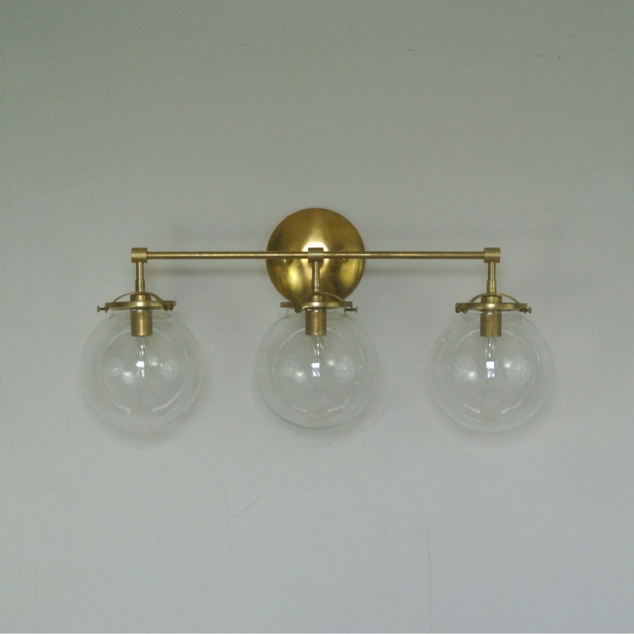 Triple Glass Globe Wall Sconce | Pinterest | Wall sconces, Matte ...