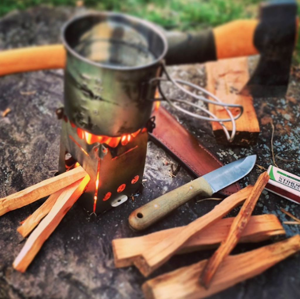 FireAnt is the perfect camping stove that uses natural wood for fuel.