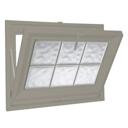 Hy Lite 23 X 15 Glacier Wave 8 Acrylic Block Privacy Hopper Window At Menards Window Vinyl Glass Block Windows Windows