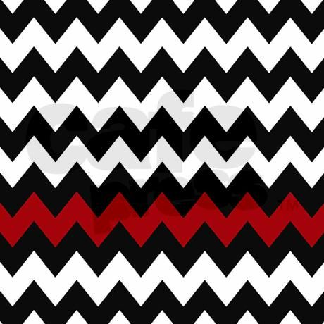 Black And Red Chevron Shower Curtain On CafePress.com