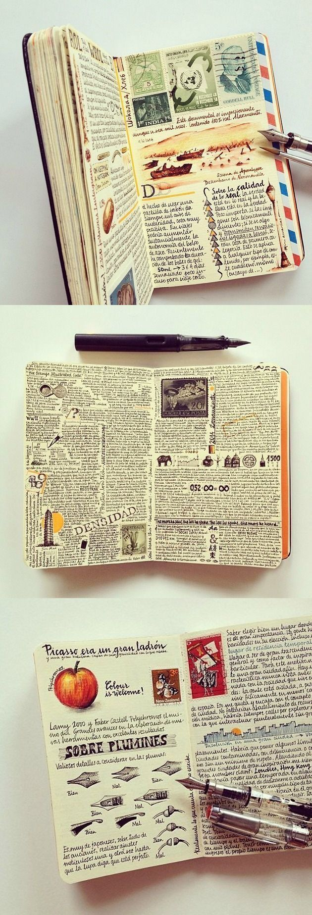 Record memories in columns on the same page. #traveljournal #artjournalinspiration