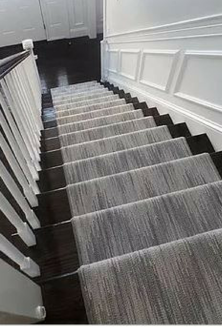 Chic Chevron Patterned Wool Carpet Stair Runner In 5 Shades Of