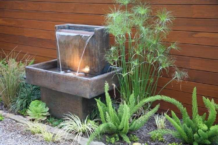 fuentes de agua para jardin Diseo De Paisaje Pinterest