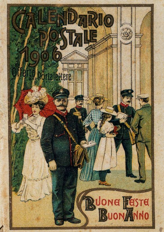 Calendario 1906.Calendario 1906 Il Natale Delle Poste Calendario