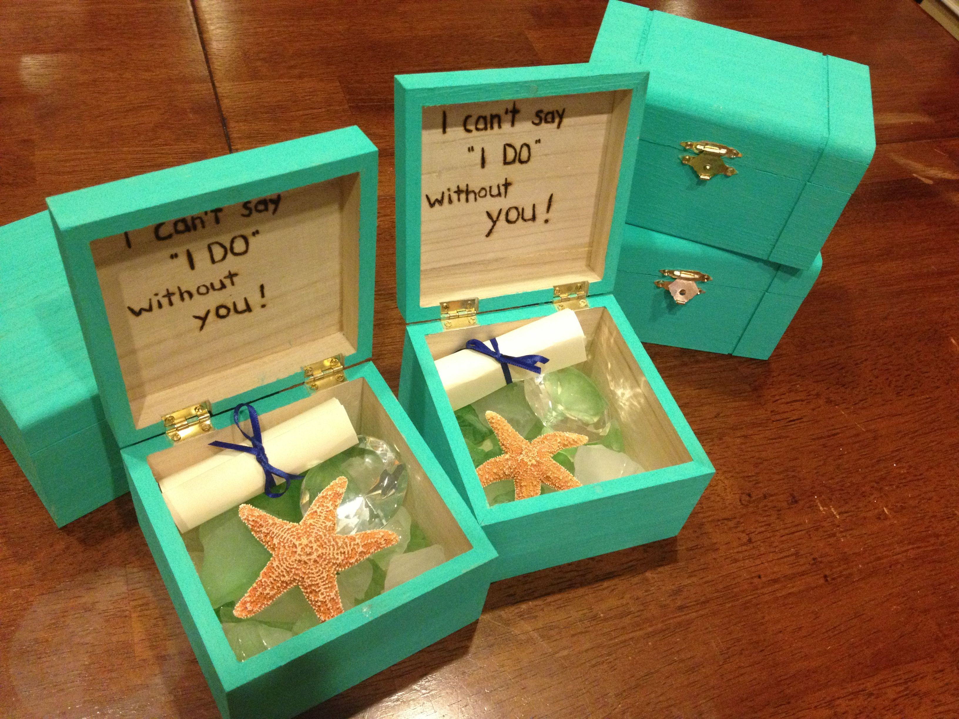 Bridesmaids Boxes For Our Cruise Ship Destination Wedding