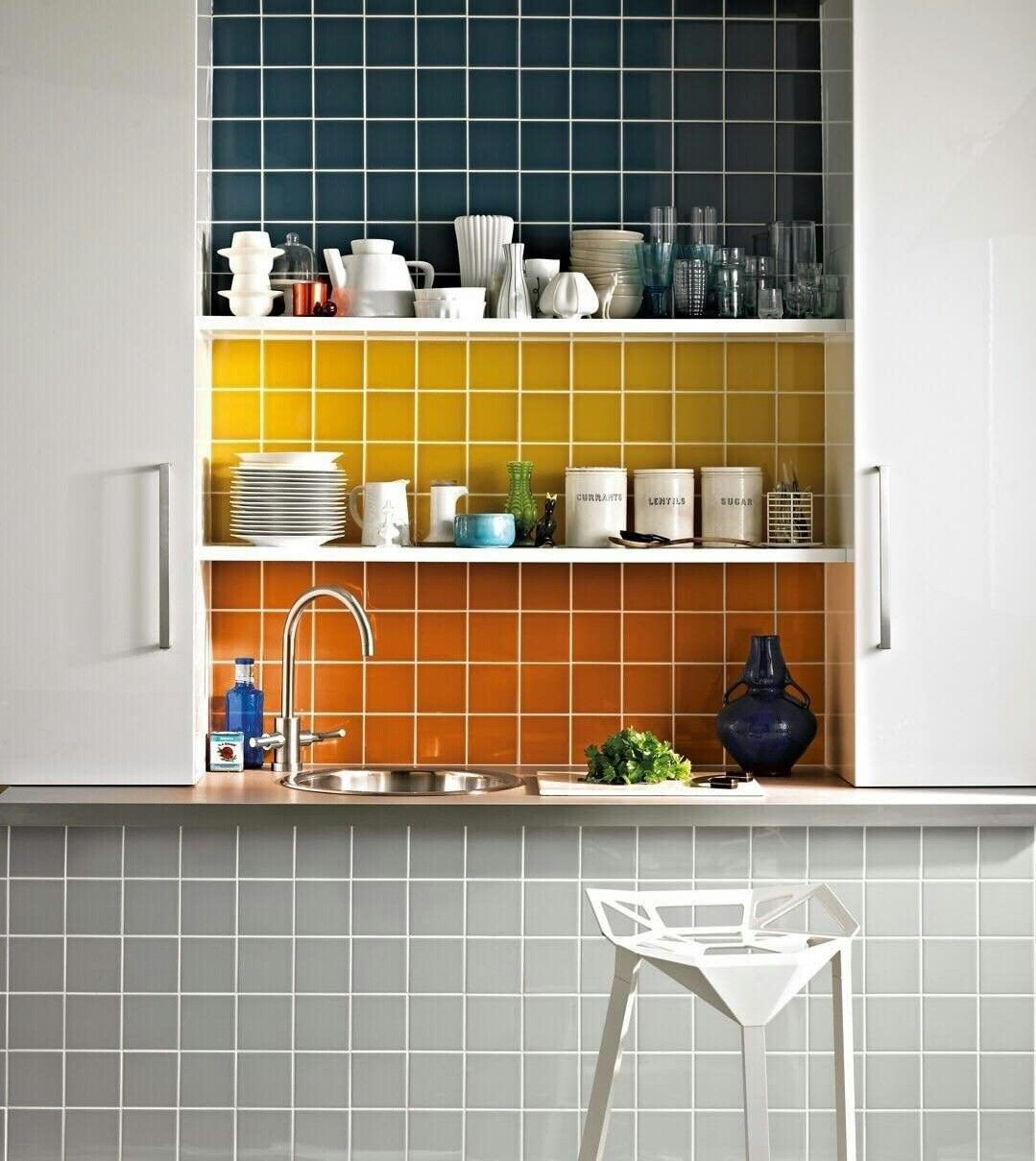Pin By Elizabeth Elmore On House Yellow Wall Tiles Wall Tiles Kitchen Wall Tiles