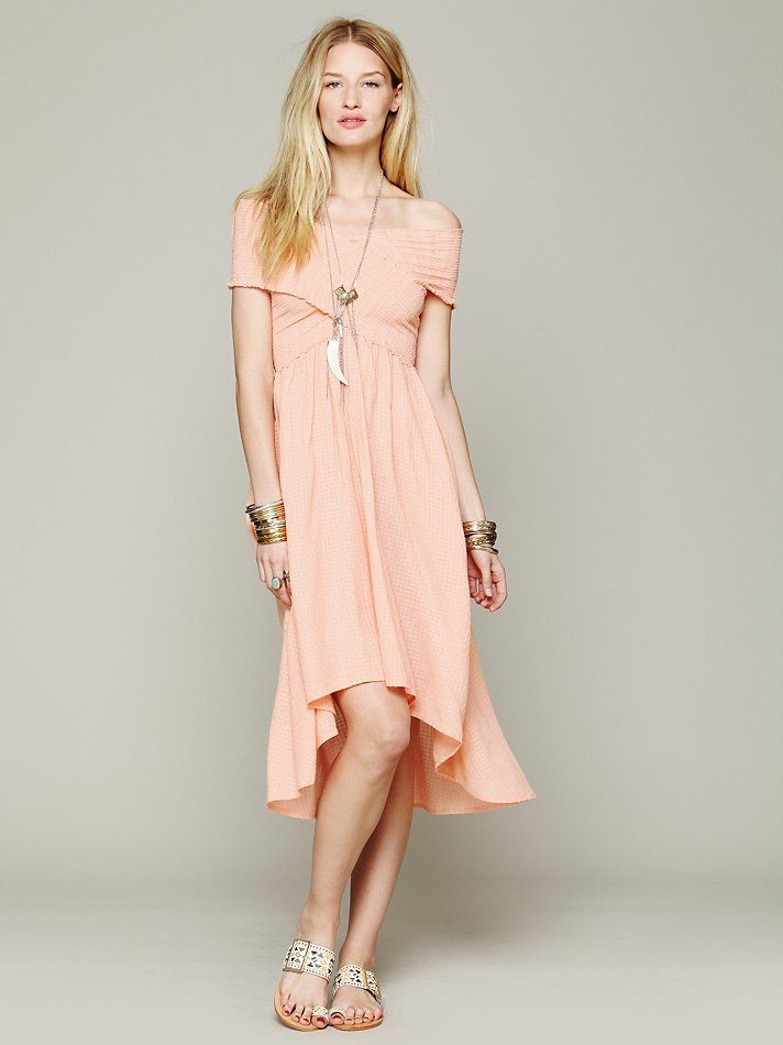 Free People Smocked Hi-Low Dress http://www.freepeople.co.uk/whats-new/smocked-hi-low-dress/_/productOptionIDS/53CF90C6-342C-48B4-B72C-9A8E72AFDCB3/