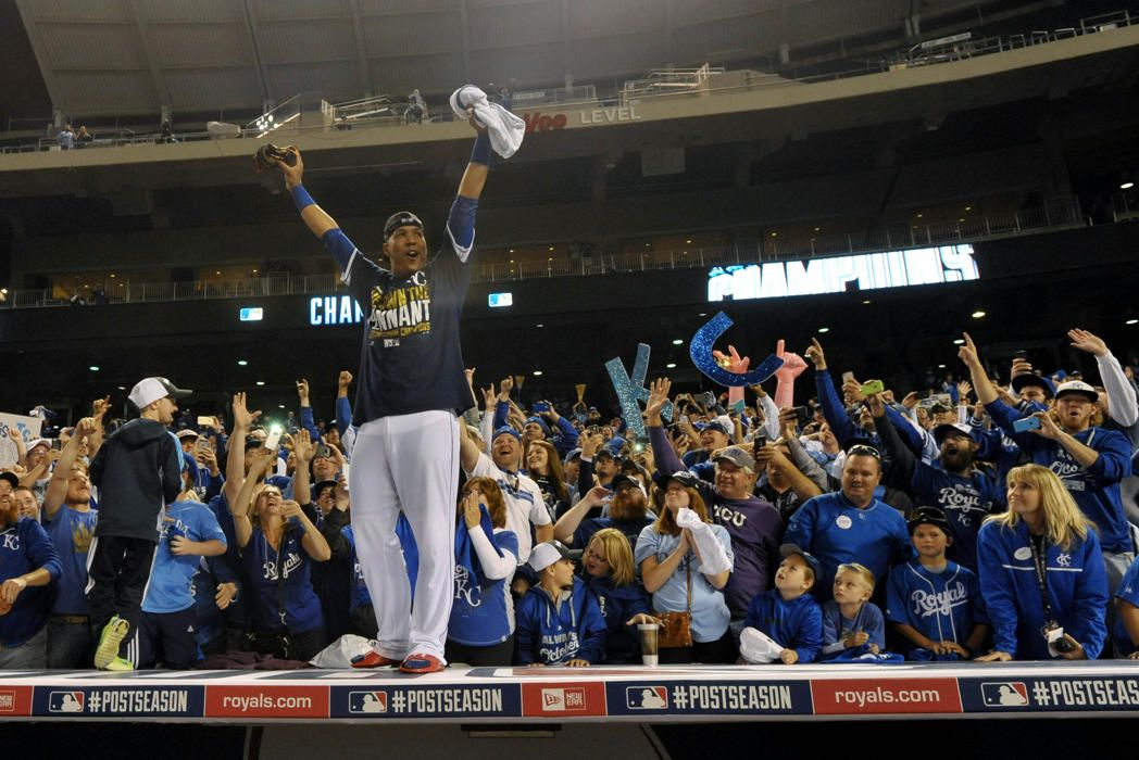 Royals celebrate first World Series berth since 1985