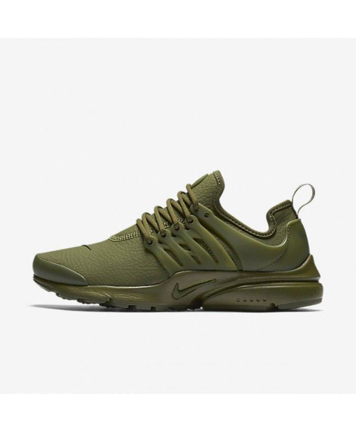 info for 59ddf 713bb Nike Air Presto Premium Legion Green Black Womens Shoes