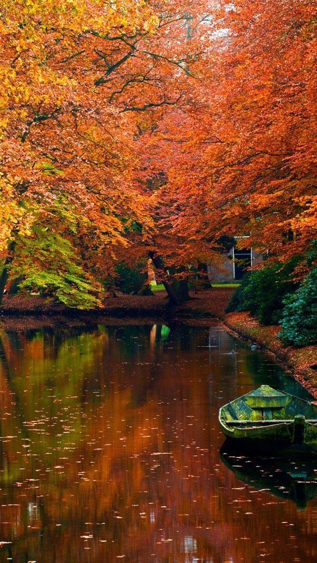 Lake In Autumn Landscape IPhone 5s Wallpaper