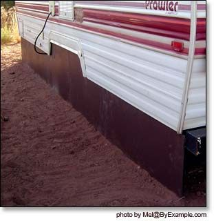 How to Skirt a Travel Trailer — ByExample.com   Glamping ...