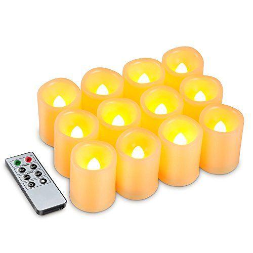 Flameless Votive Candles Kohree Set Of 12 Flameless Votive Candles Pillar Led Candles With