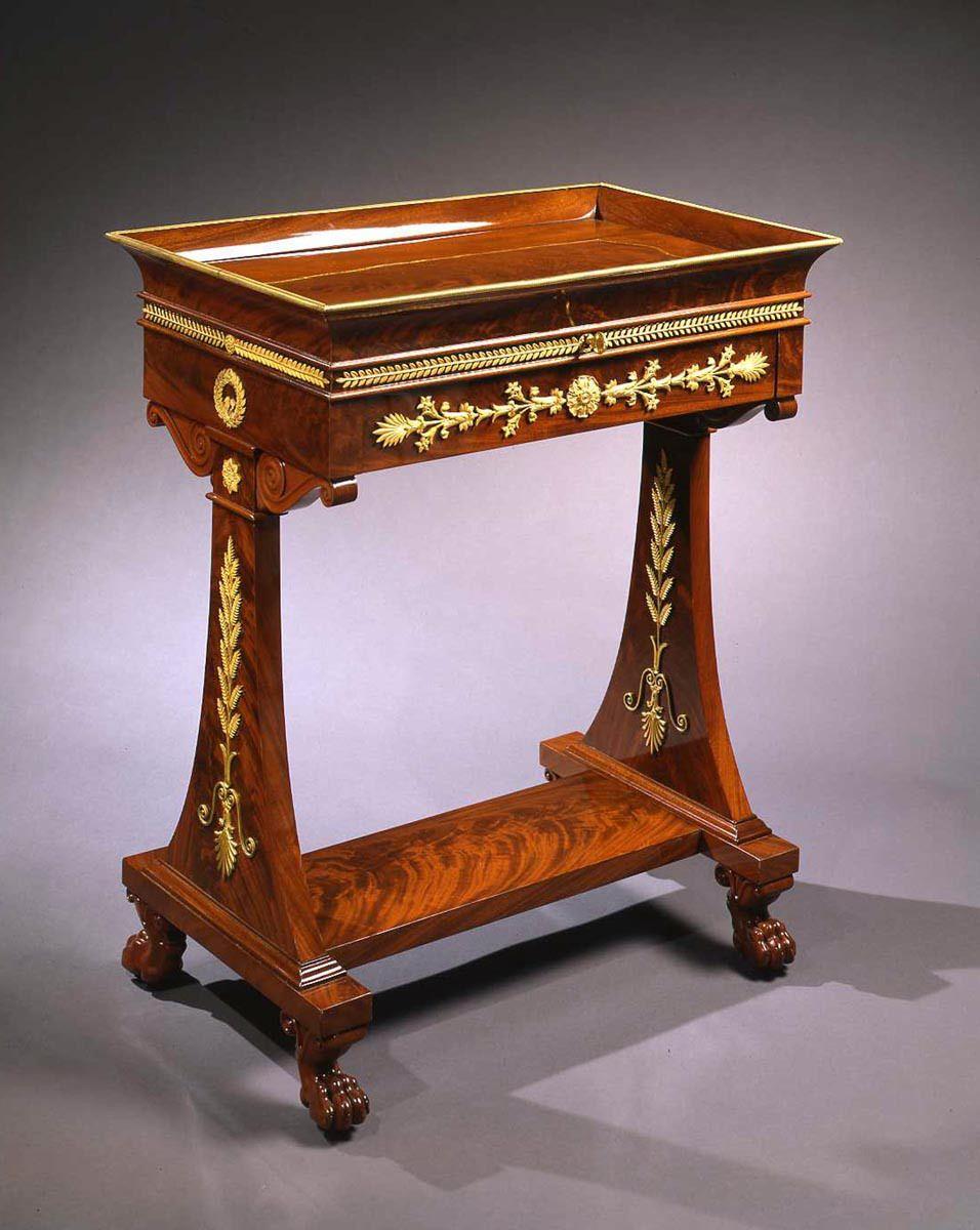 A Consulat Empire Mahogany Table A Lire A Secret Med Bilder Andlighet