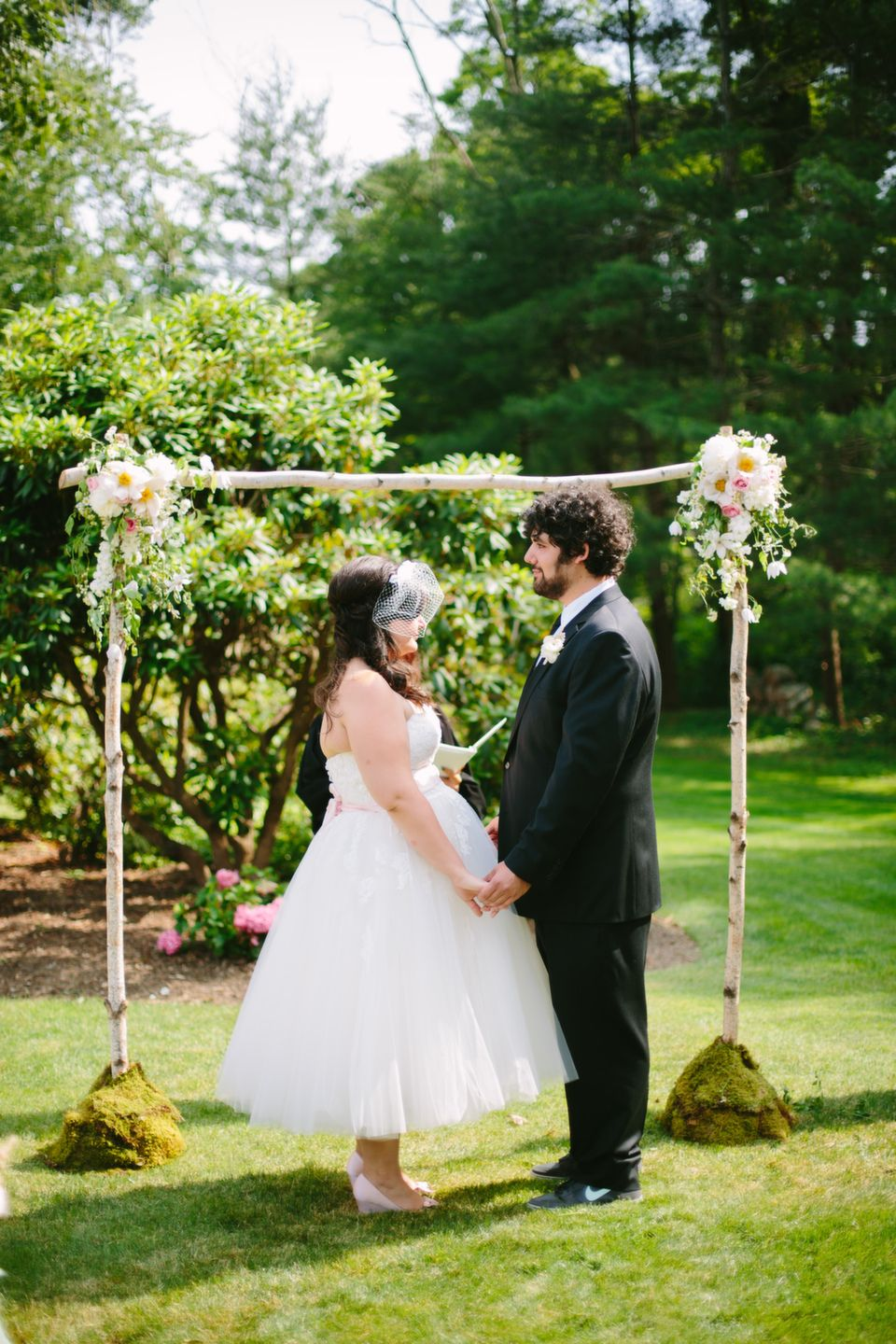 long island vintage garden party backyard wedding from minnow park