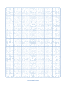 Printable Blank Cross Stitch Grid